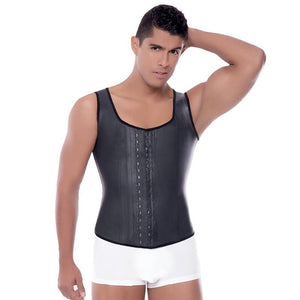 3461e6ee56 Fajas Colombianas Mens Shapewear Latex Waist Trainer VEST Workout Sport Shapewear  Tummy Control Abs Thermal Compression - REF 099