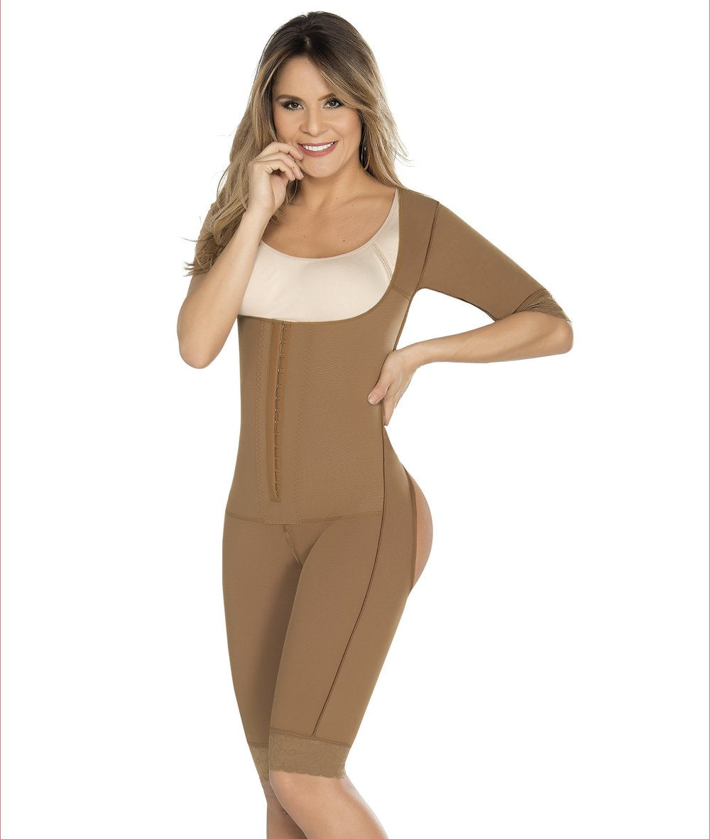 6cc425002 Post Op Full Body Body Shaper with sleeves and bra - C9016 - Fajas  Colombianas Shapewear
