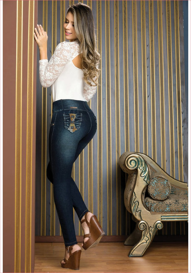 Colombian Jeans Equilibrium High Waisted Skinny For Women  J8840 - Fajas Colombianas Shapewear