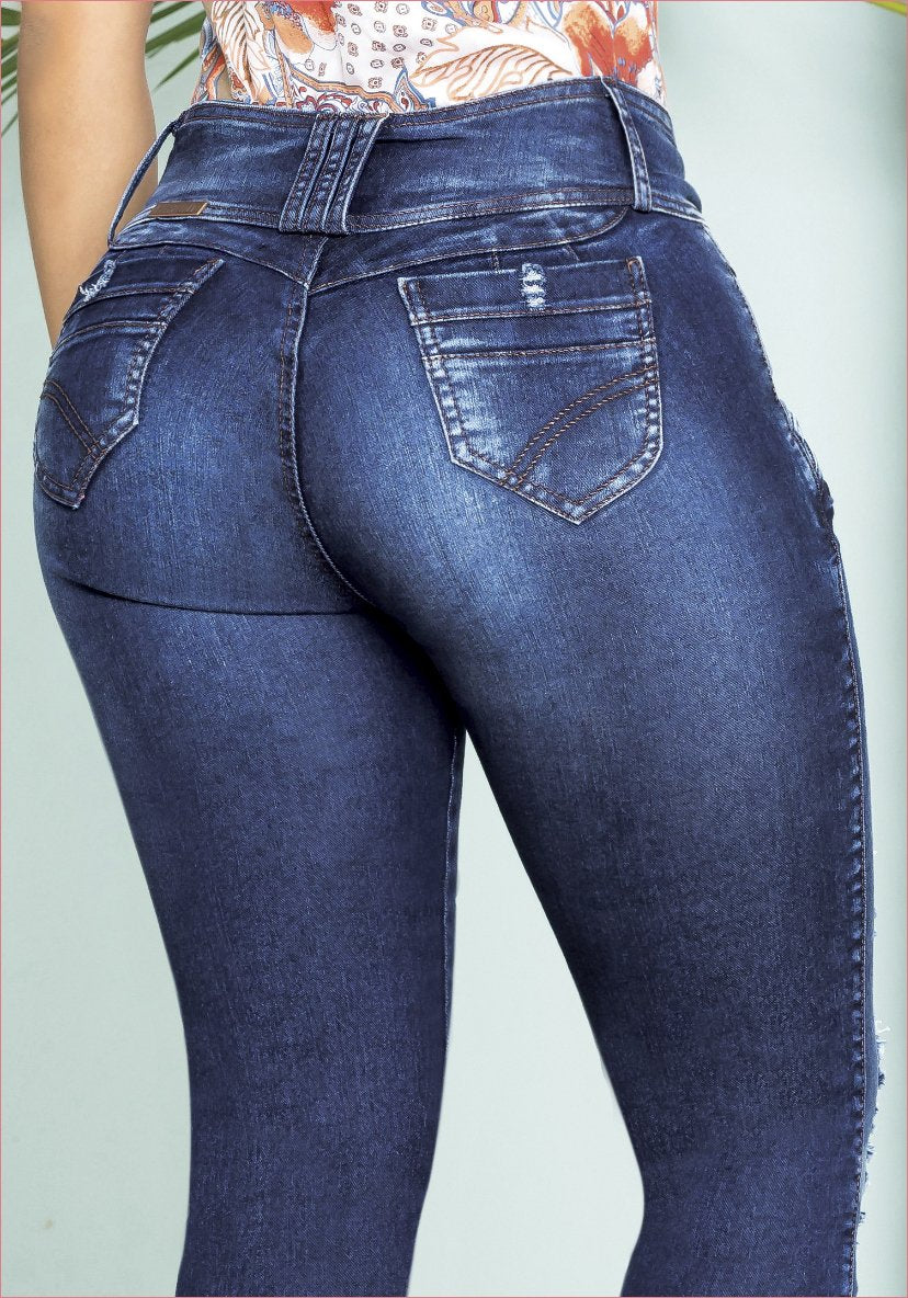 41f932b3444f8 Colombian Jeans Equilibrium High Waisted Skinny For Women - J8827 ...