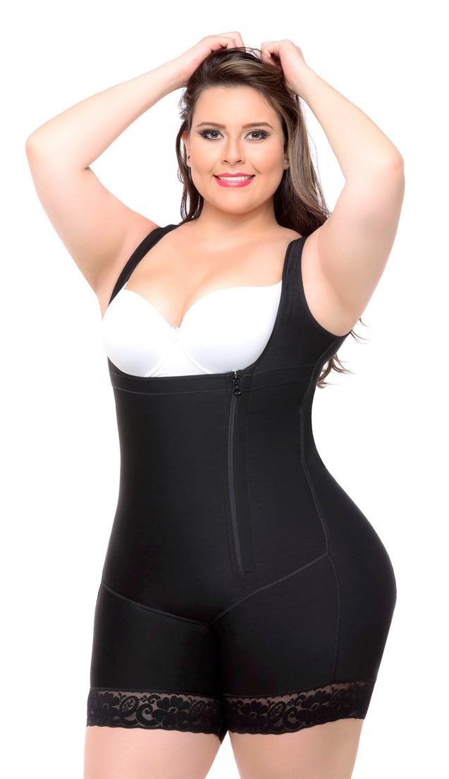 Fajas Colombianas Body Shaper Braless Short Style & Wide straps Ref - 037 - Fajas Colombianas Shapewear