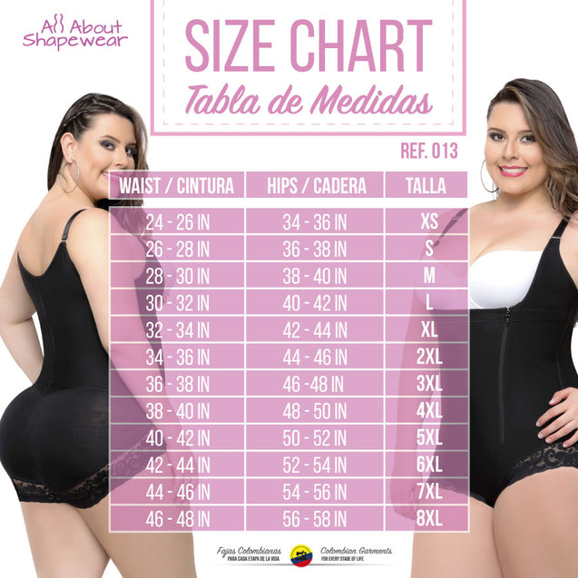 Fajas Colombianas Body Shaper Plus Size Panty Style with a Lace 013 - Fajas Colombianas Shapewear