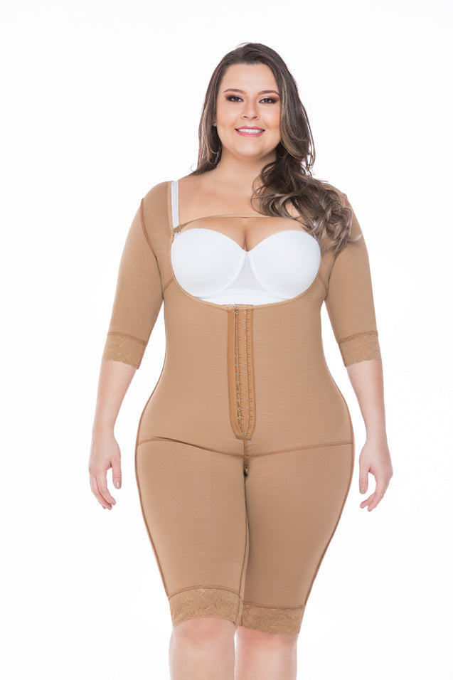 Post Surgical Compression Garments Full Body with Sleeves Ref - 082 - Fajas Colombianas Shapewear