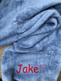 Personalised towel Chambray