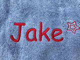 Personalised towel close up