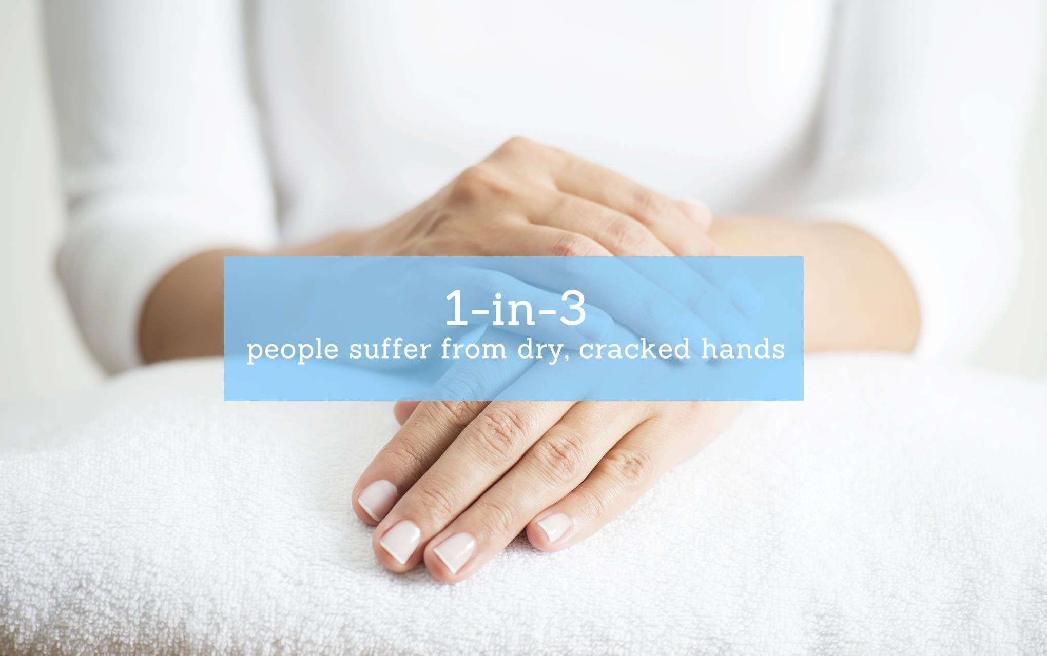 1 in 3 people suffer from dry, cracked hands.