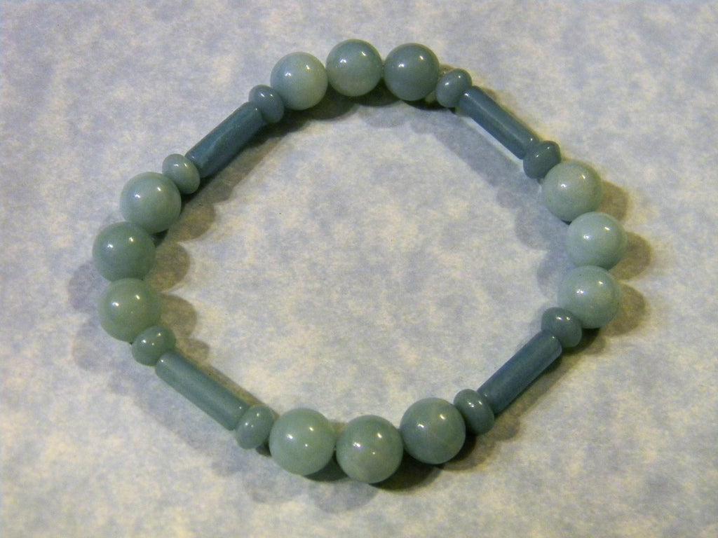 Multishape Light Amazonite Stretch Bracelet