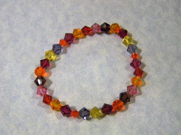 Sunrise Colored Crystal Stretch Bracelet
