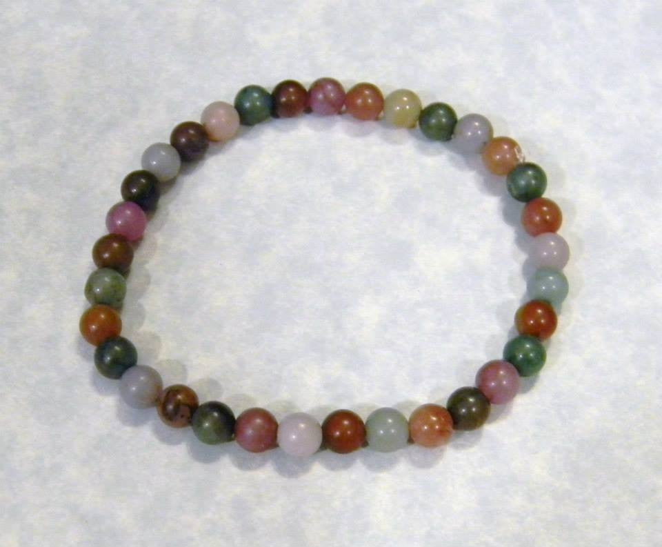 Fancy Jasper and Dyed Agate Stretch Bracelet