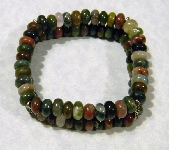 Double Strand Fancy Jasper Stretch Bracelet