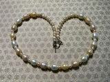 Peach and White Freshwater Pearl Necklace