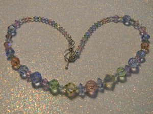 Pastel Colored Rainbow Crystal Necklace