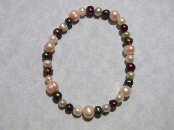 Multicolor Freshwater Pearl Stretch Bracelet