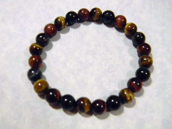 Tricolor Tigers Eye Stretch Bracelet