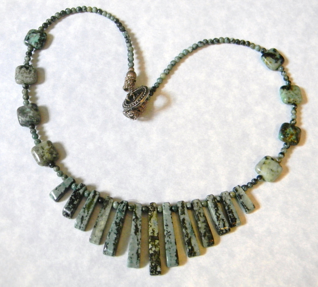 Green Turquoise Cleopatra Necklace
