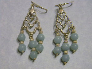 Amazonite and Sterling Silver Chandelier Earrings