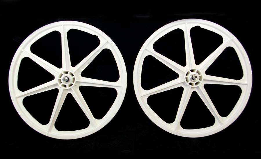 "Skyway 24"" Tuff White BMX Cruiser Wheelset"
