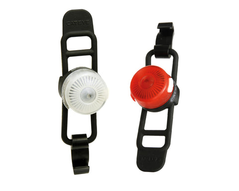 Cateye Front and Rear SL-LD140RC LED Loop Rechargeable Lightset