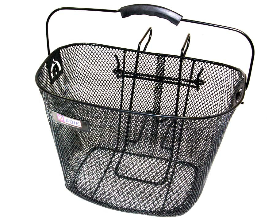 Adie Front Black Wire Basket + Handlebar Bracket