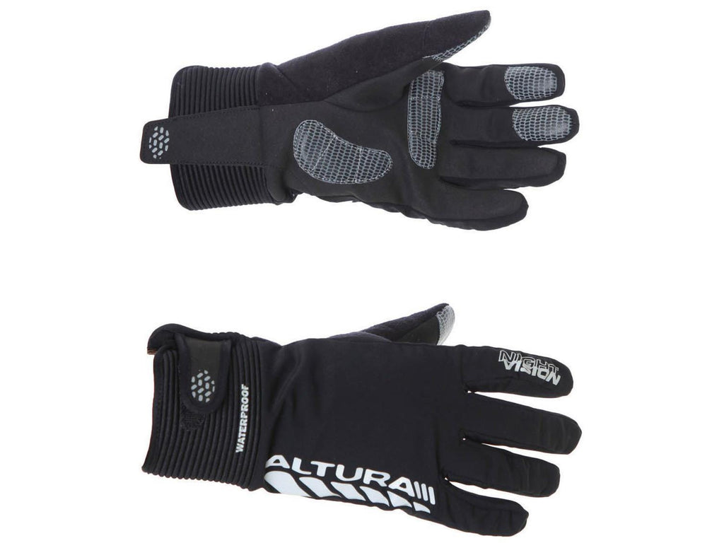 Womens Altura Night Vision Evo Waterproof Cycling Gloves Black