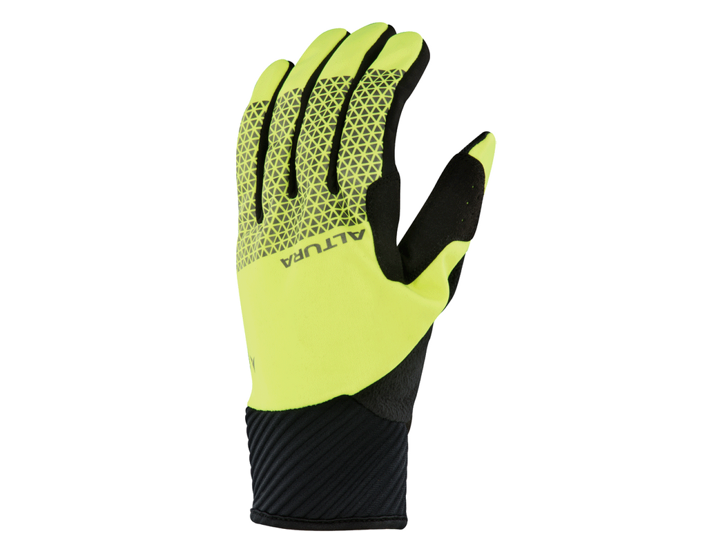 2018 Altura Night Vision 4 Windproof Cycling Gloves H-Viz Yellow/Black