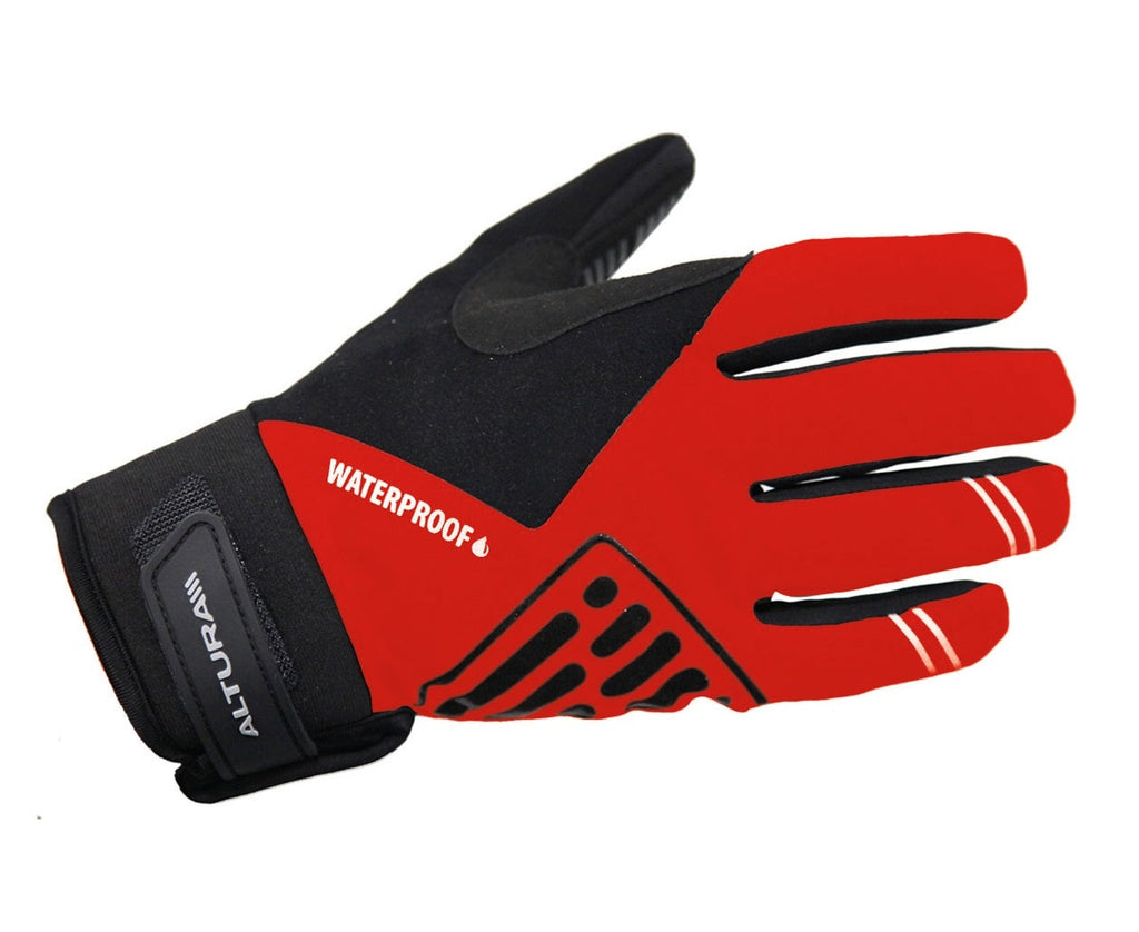 Altura Progel Waterproof Cycling Gloves Red