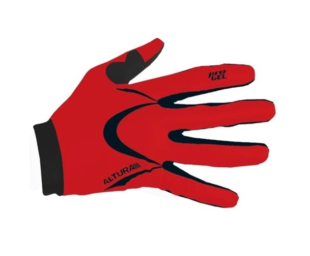 Altura Progel Full Finger Mitt Glove Red