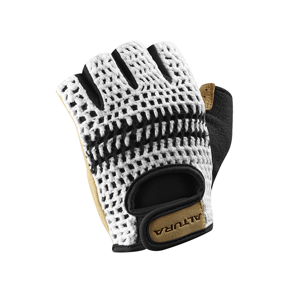 2017 Altura Classic 2 Crochet Track Mitts Gloves White/Tan