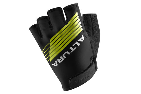 2017 Altura Kids Sportive Mitts Gloves Black/Hi-Viz Yellow