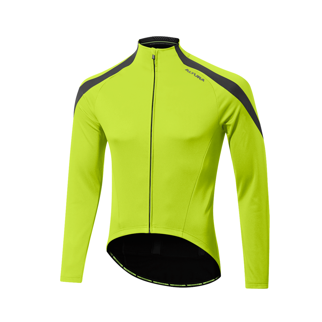 2017 Altura NV2 Thermoshield Long Sleeve Thermal Jersey Yellow
