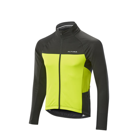 2017 Altura Podium Elite Thermo Windproof Jacket Yellow/Blk