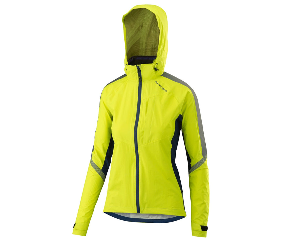 2018 Altura Womens Nightvision Cyclone Reflective Jacket Hi-Viz Yellow