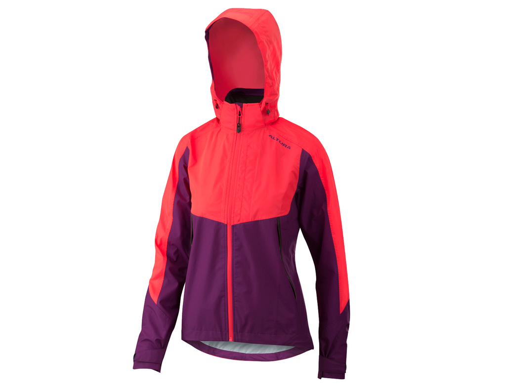 2018 Altura Womens Night Vision Thunderstorm Jacket Purple/Hi-Viz Pink