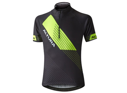 2017 Altura Kids Sportive Short Sleeve Jersey Black/Hi-Viz Yellow