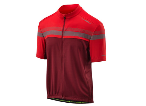 2018 Altura Men's Nightvision Short Sleeve Jersey Urban Red/Burgundy