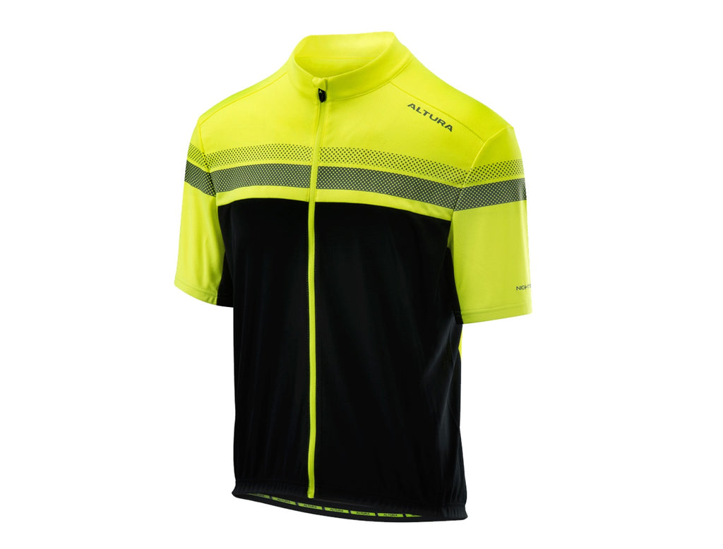 2018 Altura Men's Nightvision Short Sleeve Jersey Hi-Viz Yellow/Black