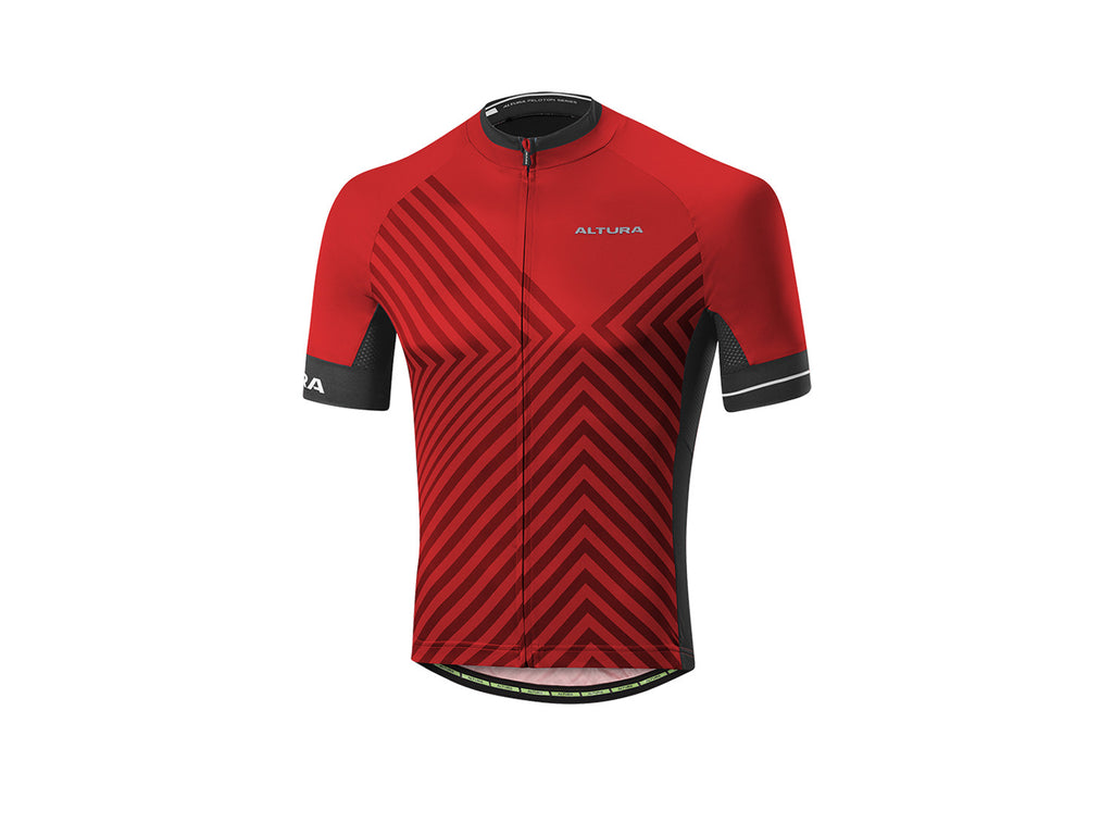 2017 Altura Peloton 2 Short Sleeve Jersey Men's Team Red/Black