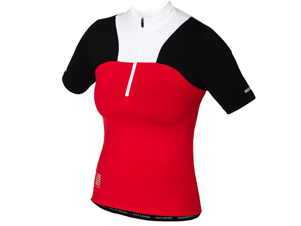 Altura Womens Synchro Short Sleeve Jersey Red/Black/White