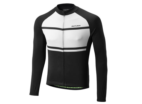 2017 Altura Airstream 2 Summer Long Sleeve Jersey Black/White