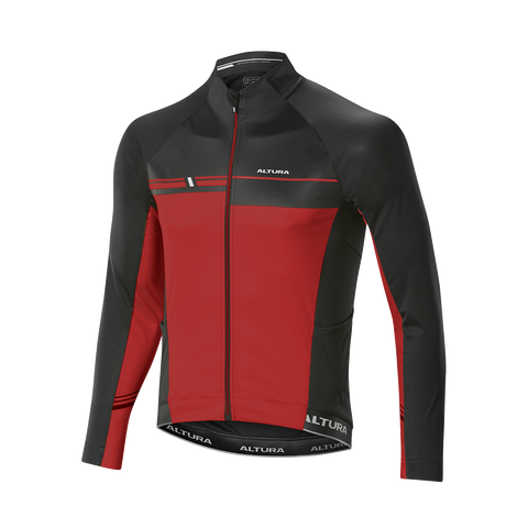 2017 Altura Podium Elite Thermo Long Sleeve Jersey Red/Blk