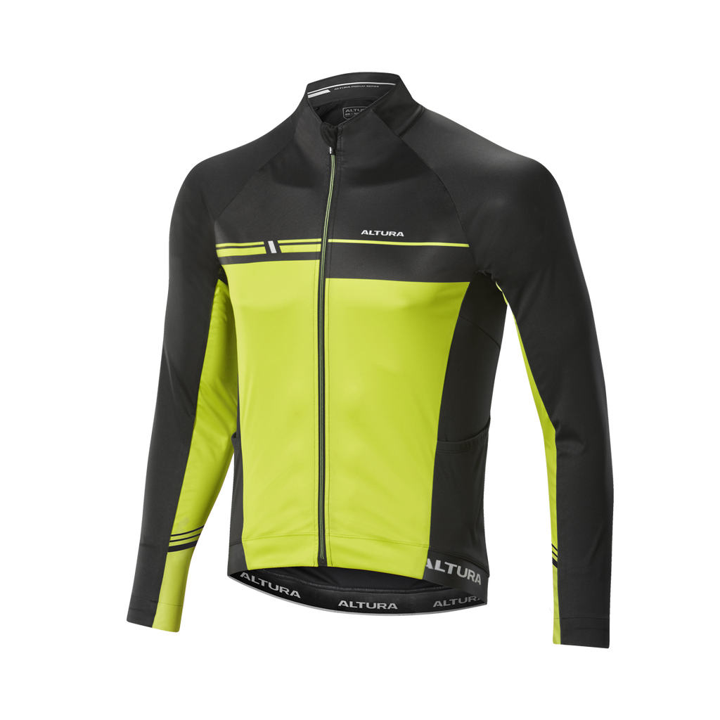 2017 Altura Podium Elite Thermo Long Sleeve Jersey Yellow/Blk