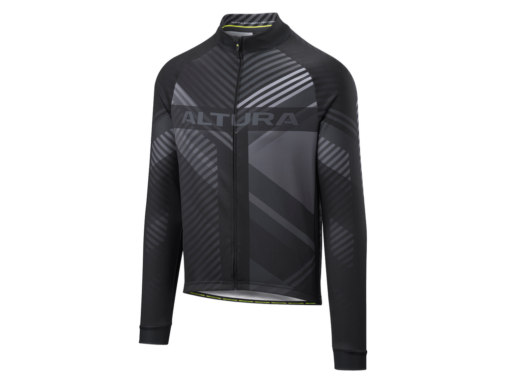 2018 Altura Team Long Sleeve Jersey Black/White