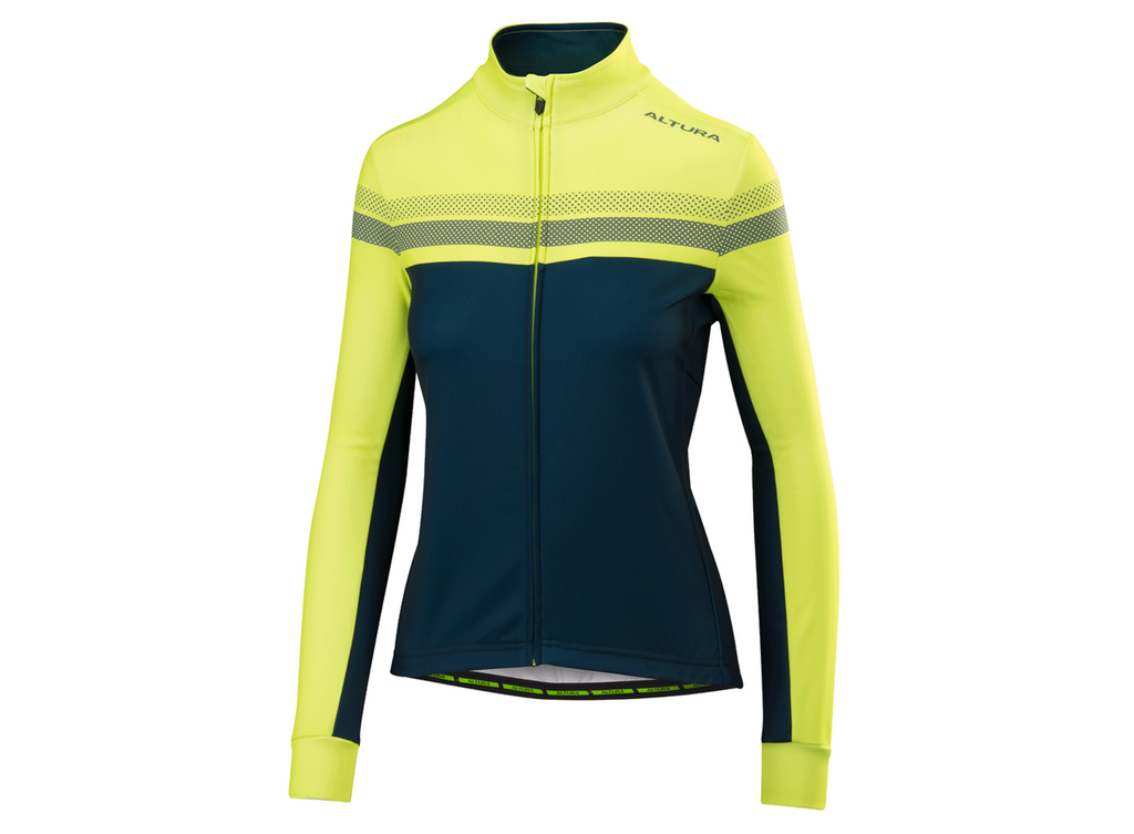 2018 Altura Womens Night Vision 4 Long Sleeve Jersey Blue/Hi-Viz Yellow