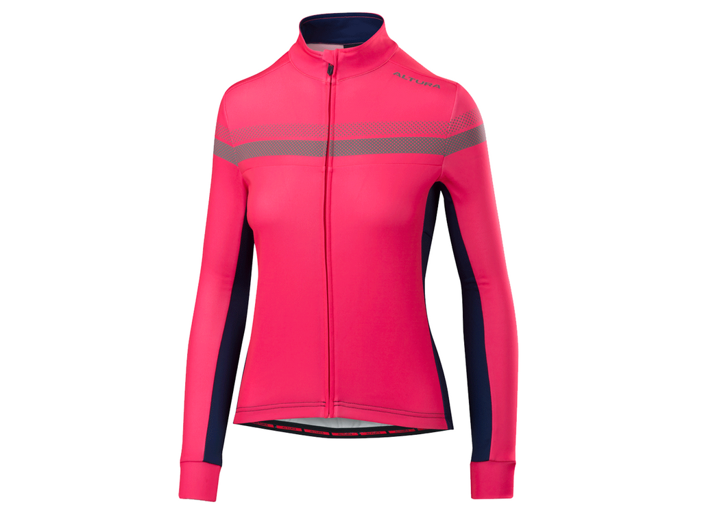 2018 Altura Womens Night Vision 4 Long Sleeve Jersey Hi-Viz Pink/Blue