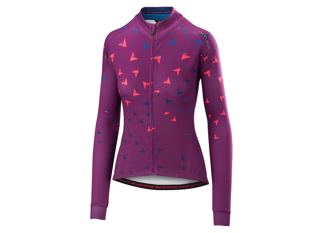 2018 Altura Womens Thermo Flock Long Sleeve Jersey Purple/Hi-Viz Pink
