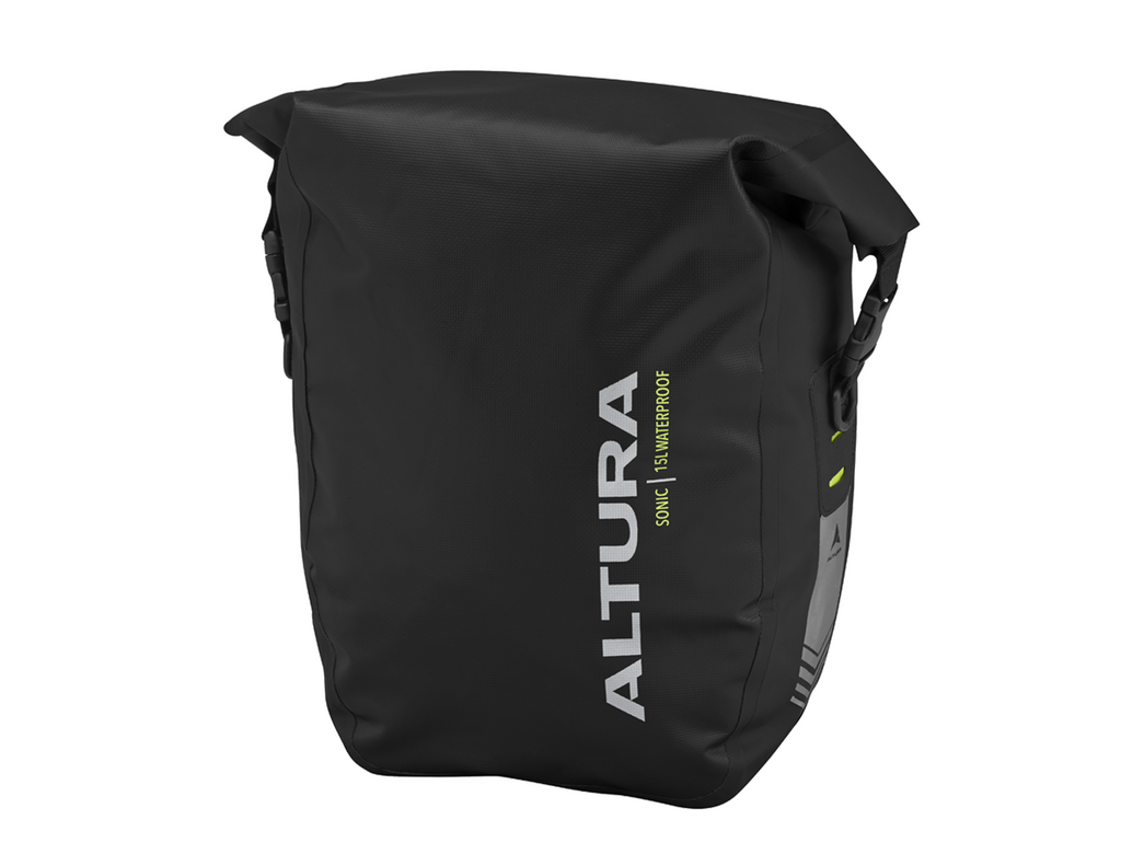 Altura Sonic 15 Litre Waterproof Pannier Bag (Single) Black