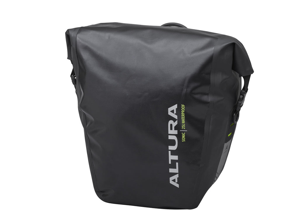 Altura Sonic 25 Litre Waterproof Pannier Bag (Single) Black