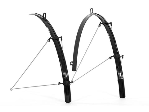 Raleigh 700c x 28mm Front and Rear Black Rain Blade Mudguard Set