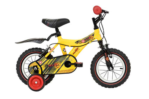 "B Grade Raleigh Atom Boys 12"" Bike Yellow suit 3-5yrs"