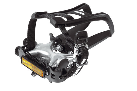 Raleigh Avenir Alloy Mountain Bike Pedal with Toe Clip And Straps